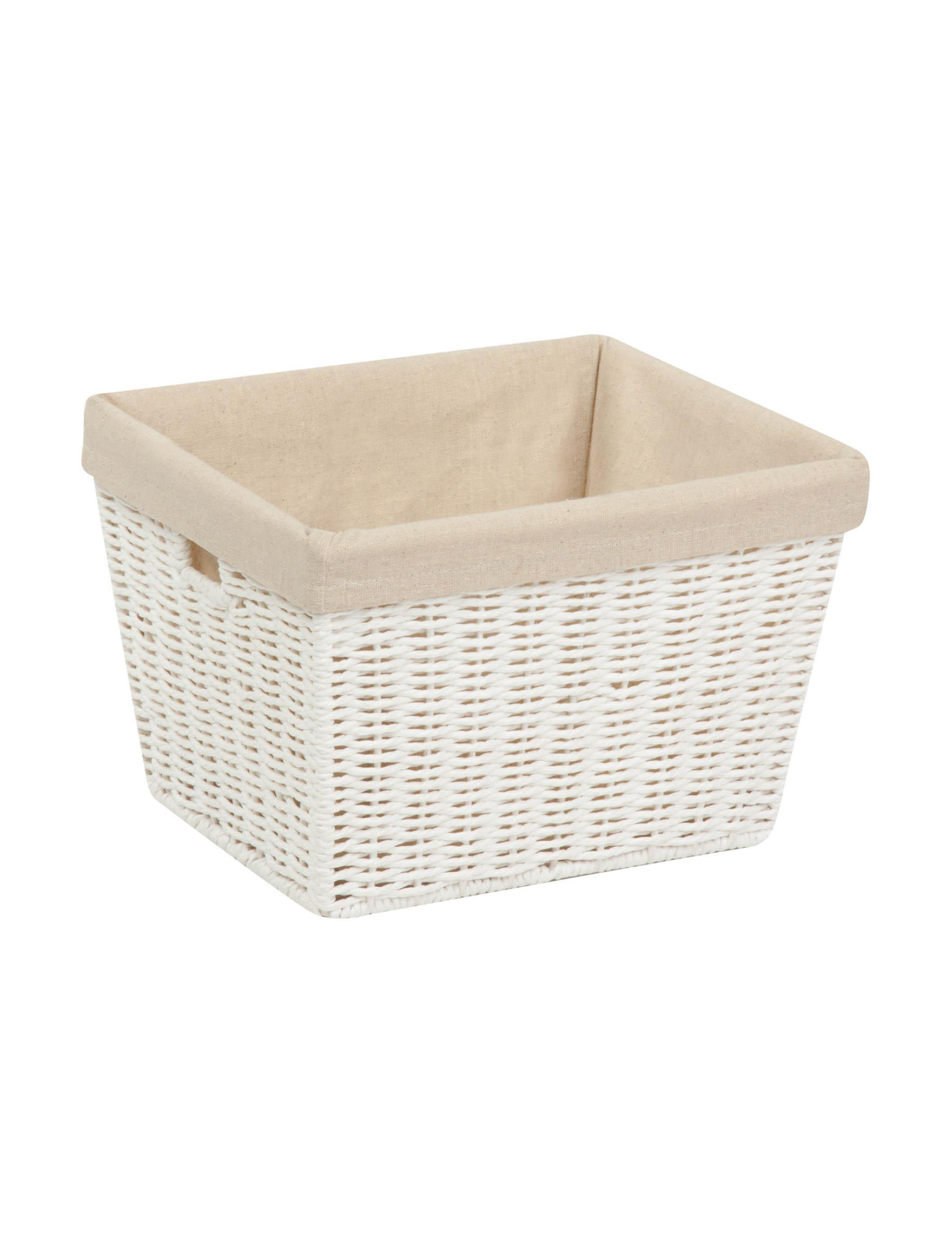 Honey-Can-Do International White Cubbies & Cubes Storage Bags & Boxes
