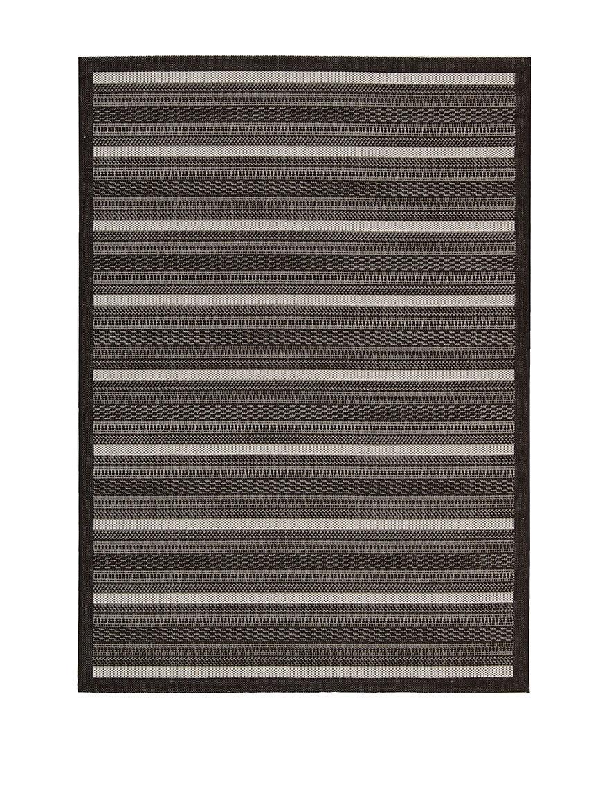 Nourison Black Outdoor Rugs & Doormats Outdoor Decor