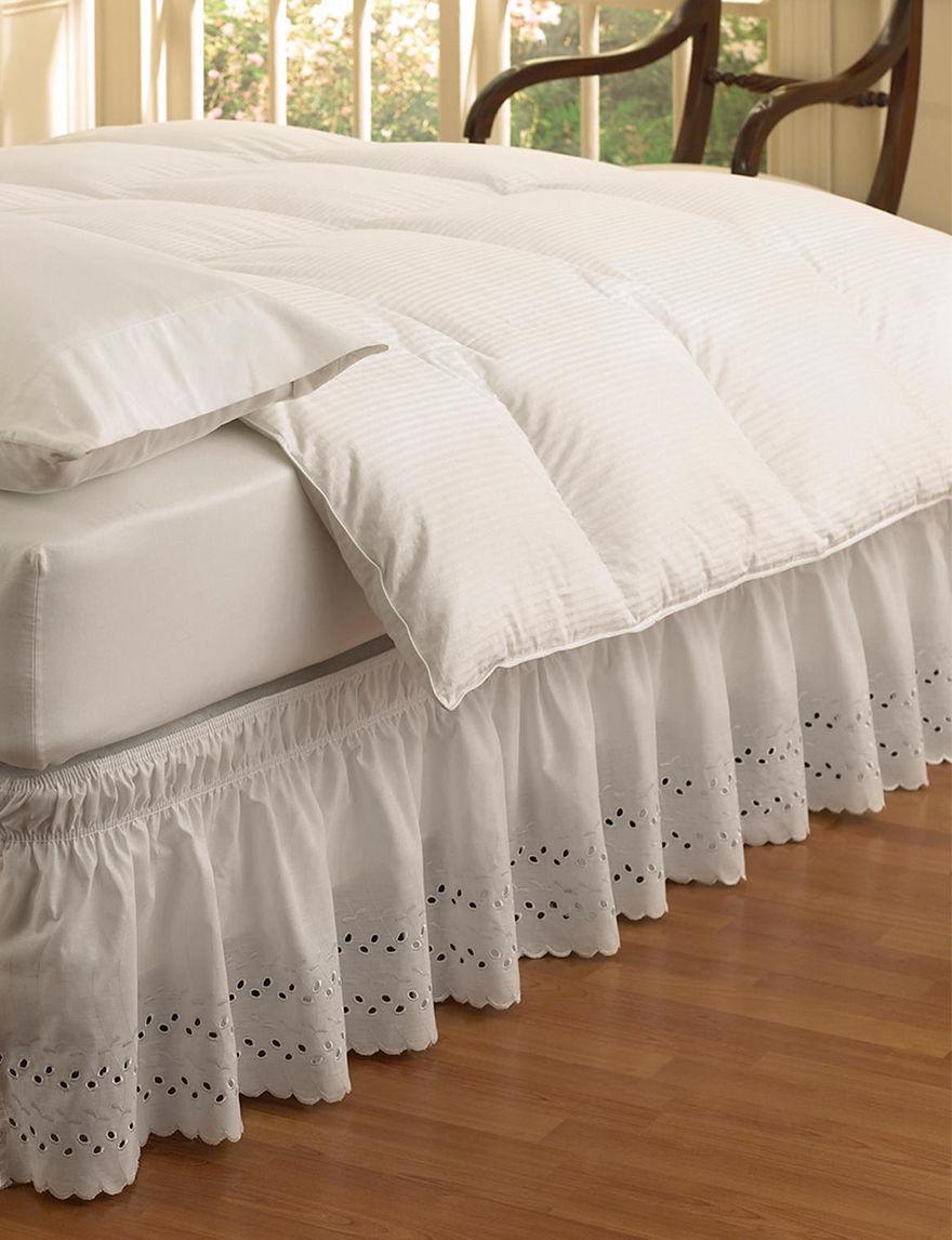 Ellery White Bed Skirts