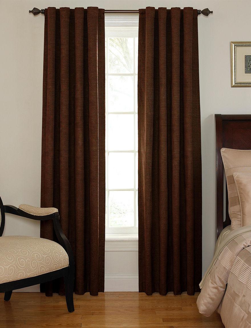 Ellery Chocolate Curtains & Drapes Window Treatments