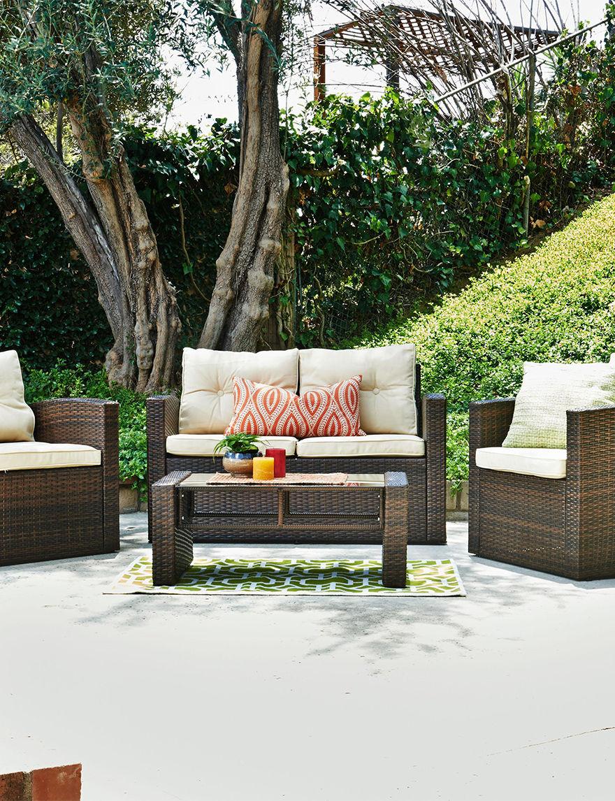 Thy-Hom Brown/Tan Patio & Outdoor Furniture