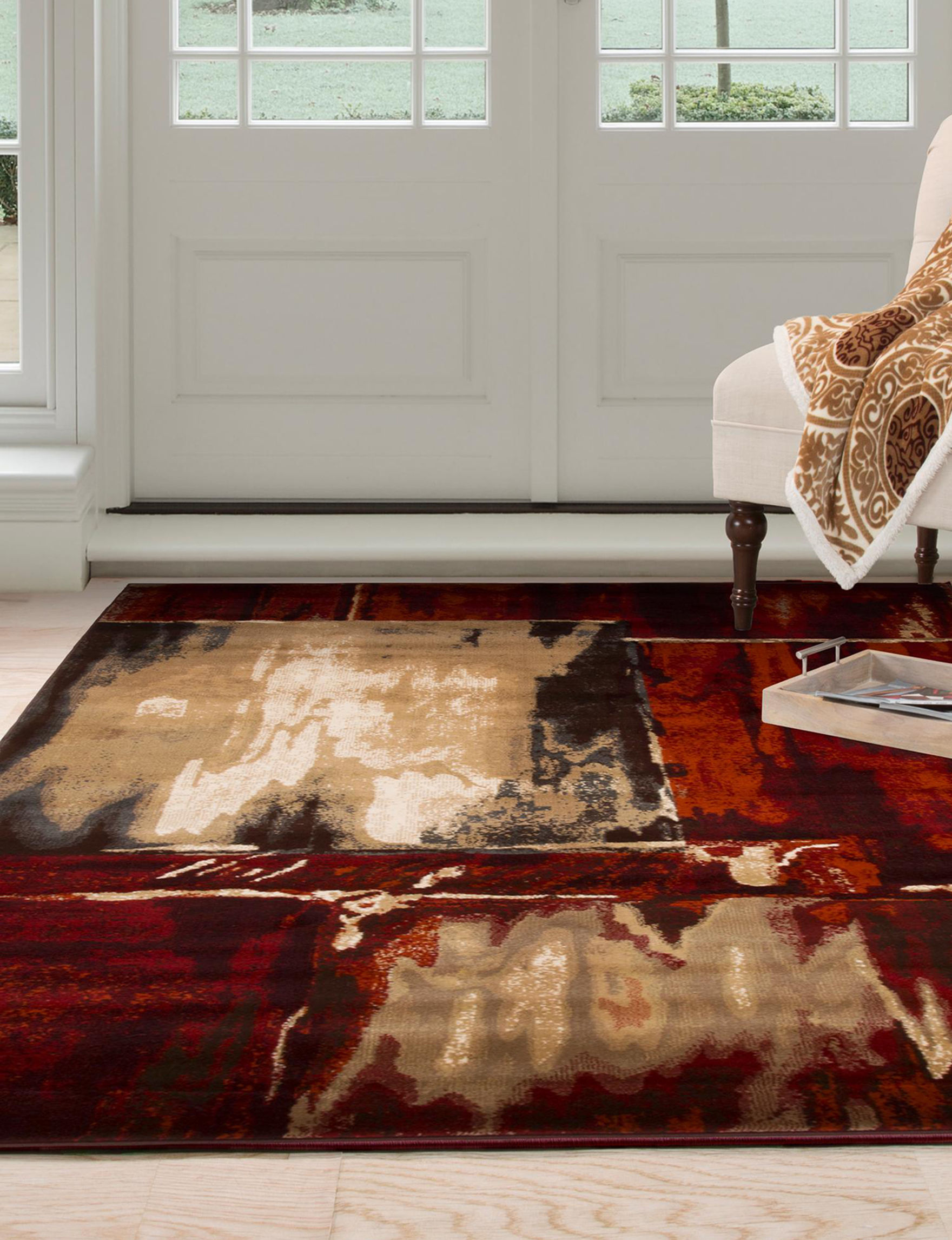 Lavish Home Burgundy Area Rugs Rugs