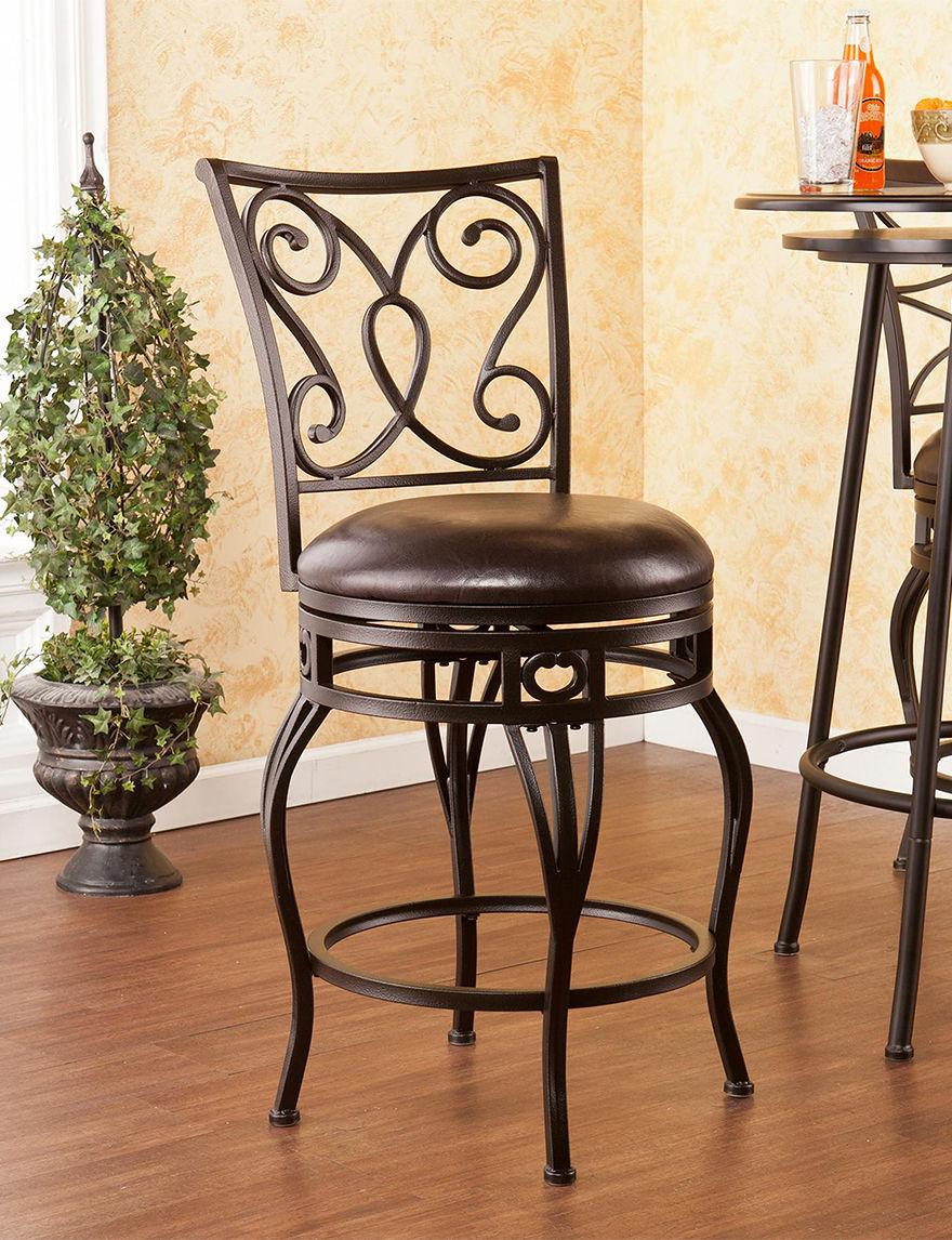 Southern Enterprises Bronze Bar & Kitchen Stools Kitchen & Dining Furniture