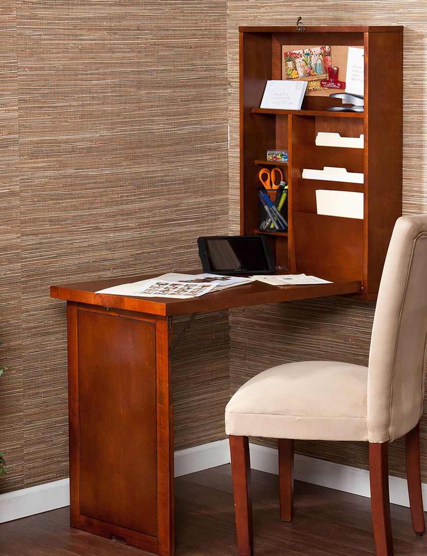 Southern Enterprises Dark Brown Desks Home Office Furniture