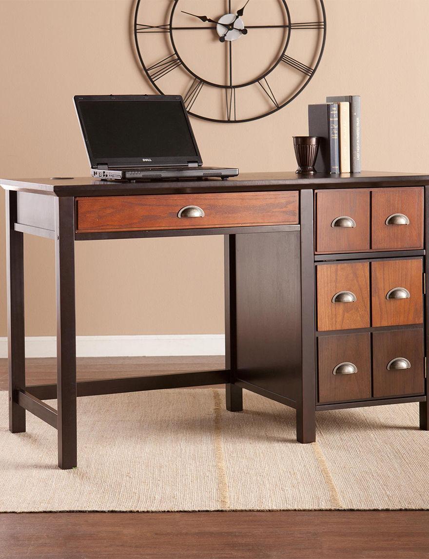 Southern Enterprises Brown Desks Home Office Furniture