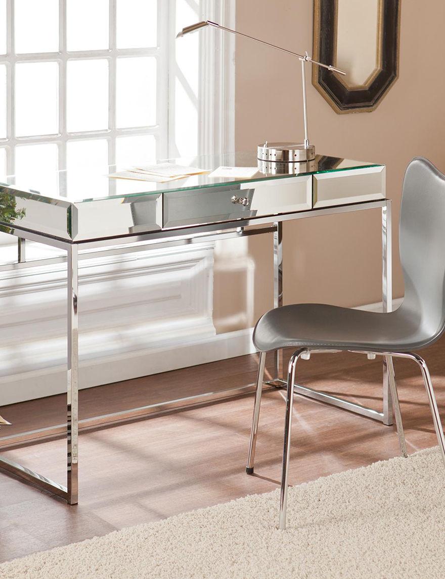 Southern Enterprises Chrome Desks Home Office Furniture