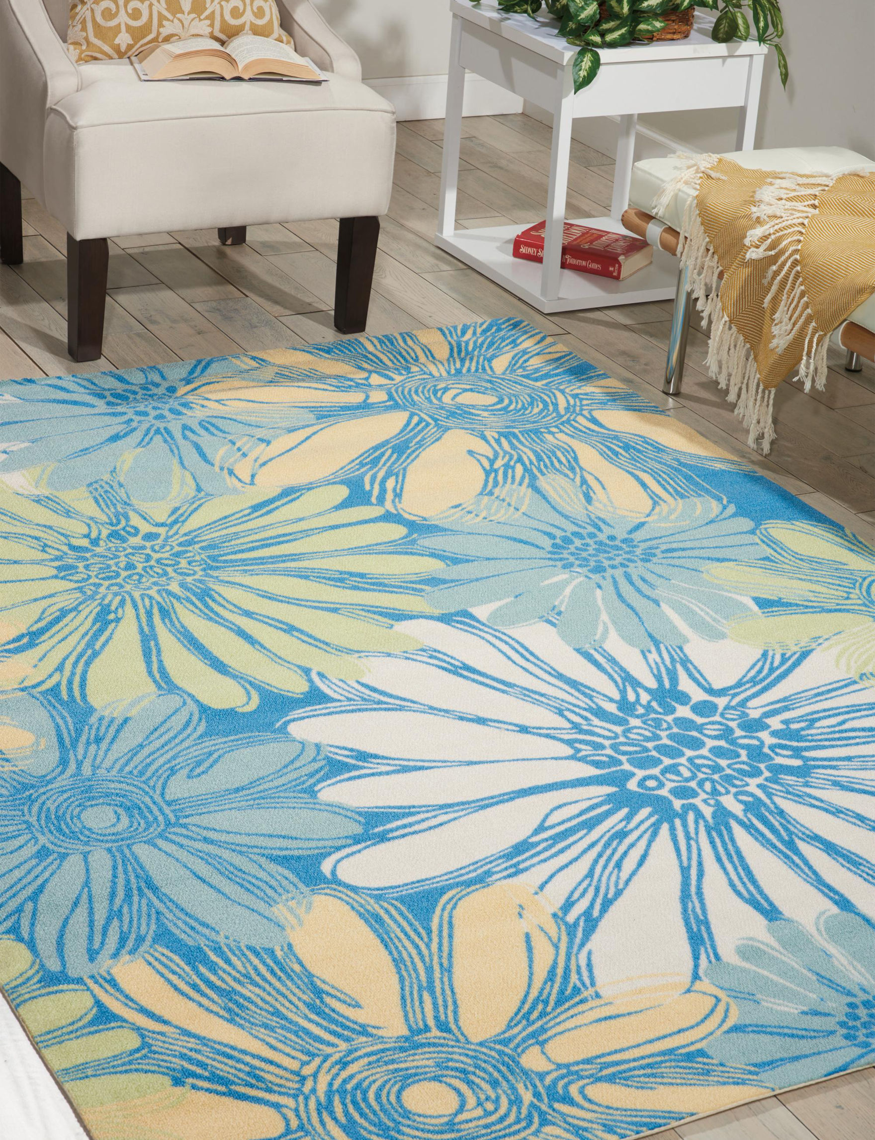 Nourison Blue Accent Rugs Area Rugs Outdoor Rugs & Doormats Runners Outdoor Decor Rugs