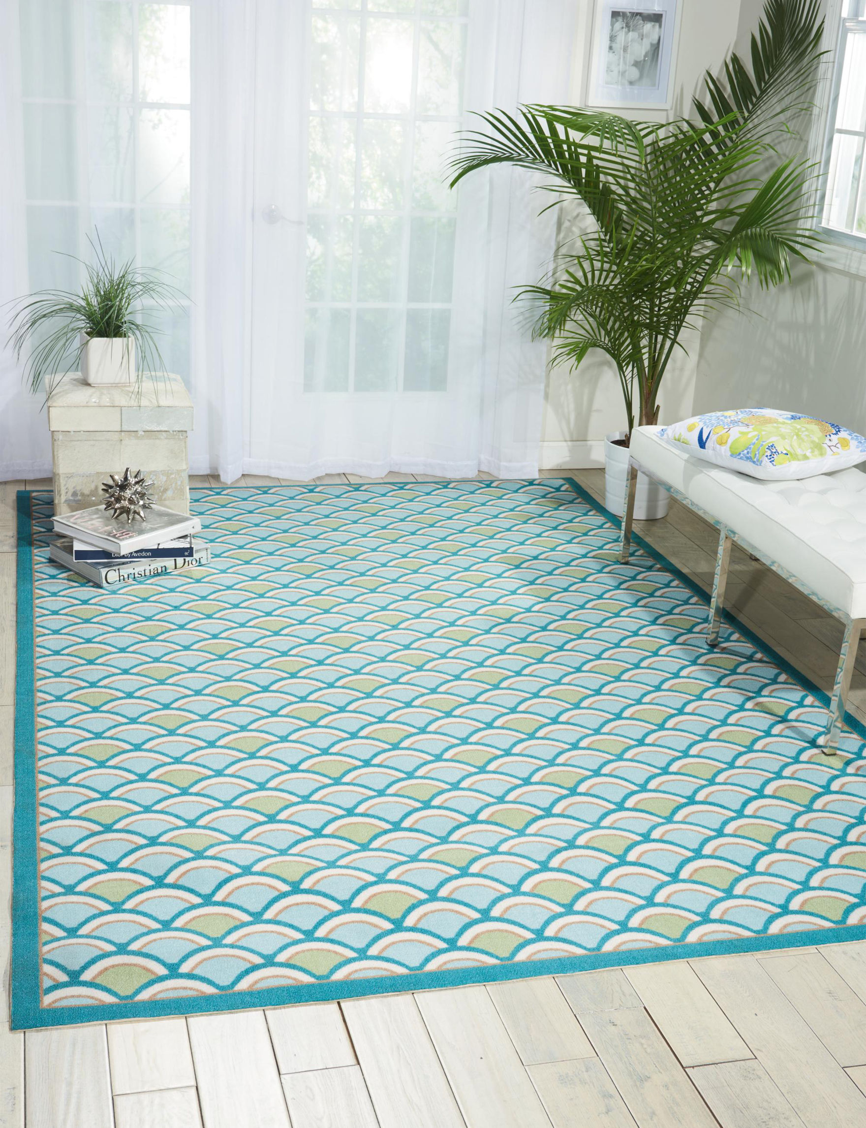 Nourison Light Blue Accent Rugs Area Rugs Outdoor Rugs & Doormats Runners Outdoor Decor Rugs