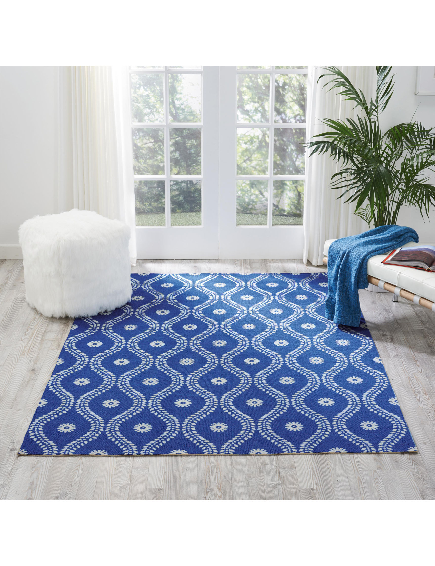 Nourison Navy Outdoor Decor Rugs