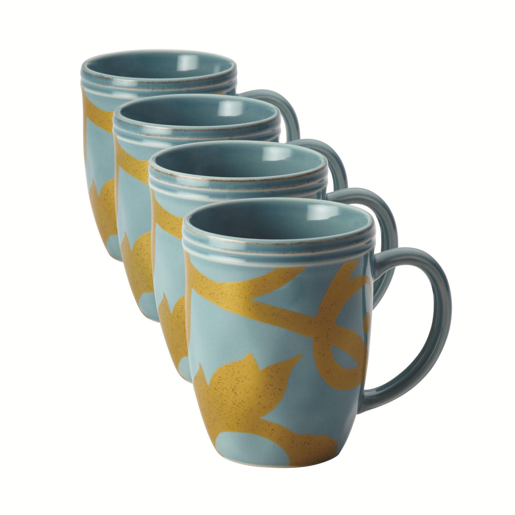 Rachael Ray Blue Mugs Drinkware