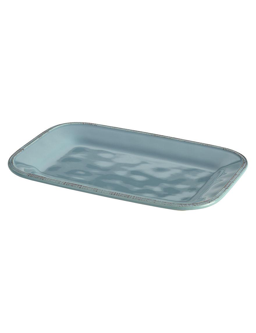 Rachael Ray Blue Serving Platters & Trays Serveware