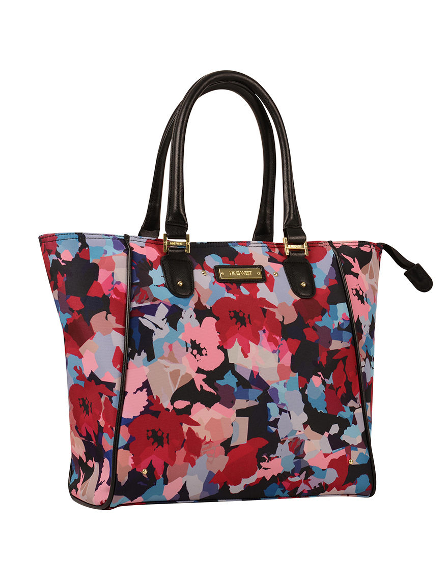 Nine West Floral Carry On Luggage Laptop & Messenger Bags Weekend Bags