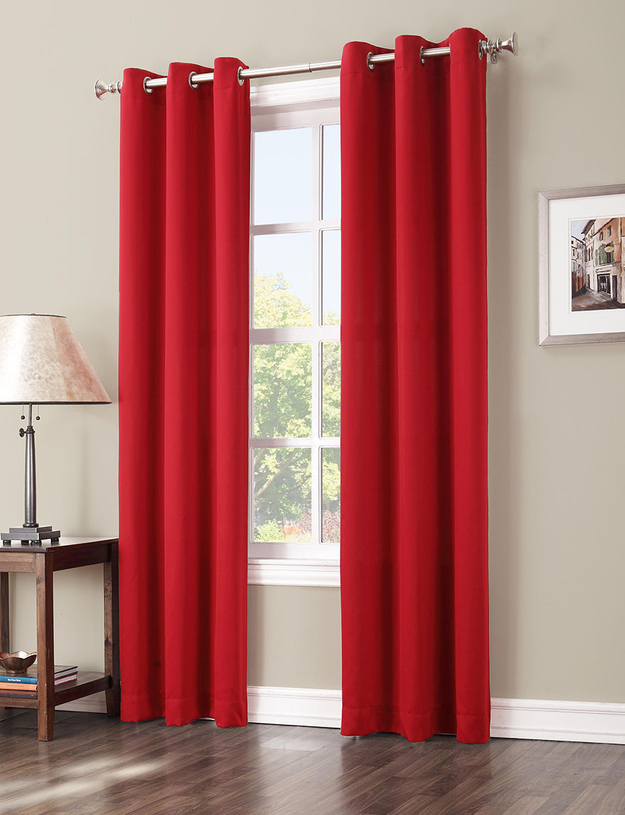 Lichtenberg Red Curtains & Drapes Window Treatments