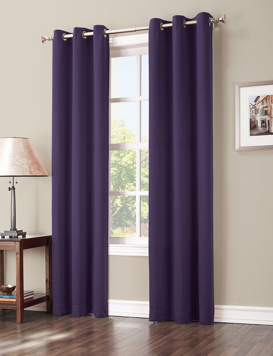 Lichtenberg Blackberry Curtains & Drapes Window Treatments