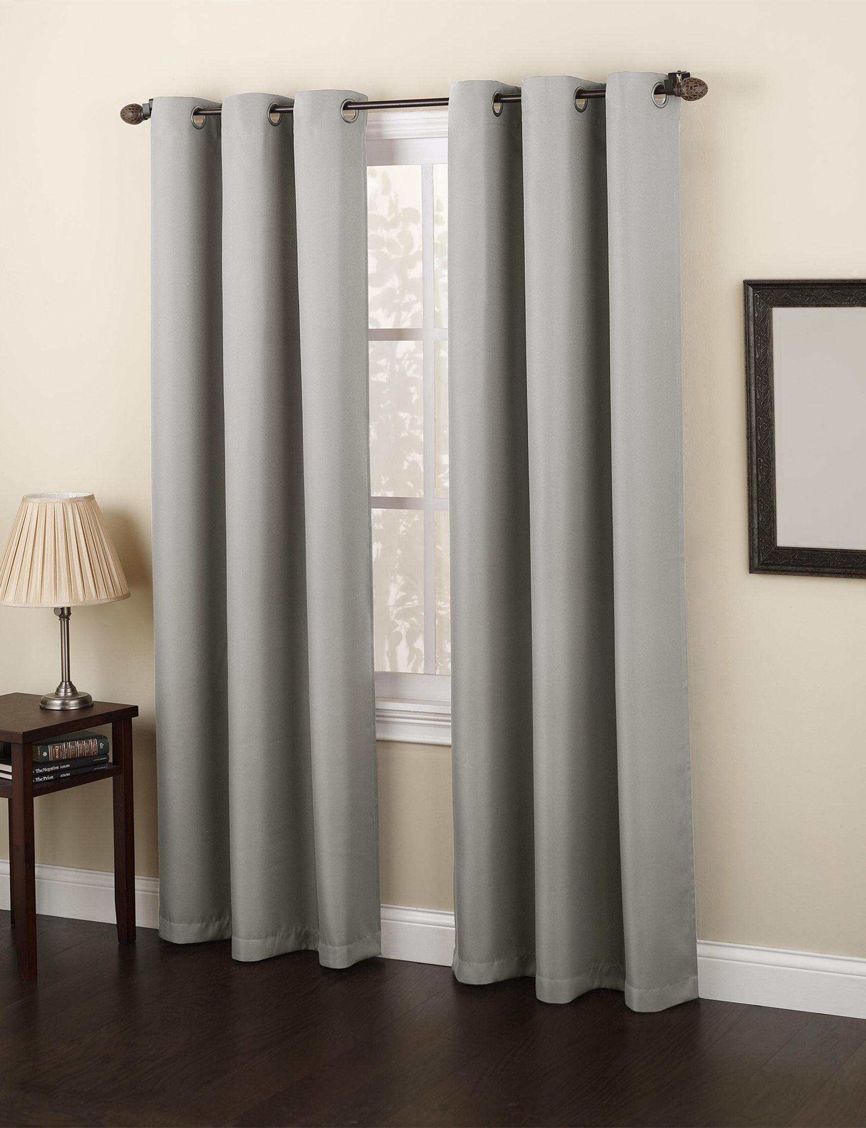 Lichtenberg Grey Curtains & Drapes Window Treatments