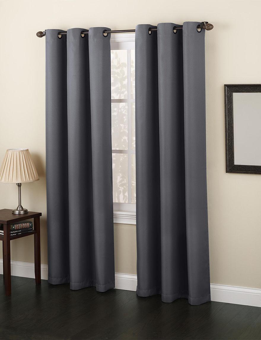 Lichtenberg Charcoal Curtains & Drapes Window Treatments
