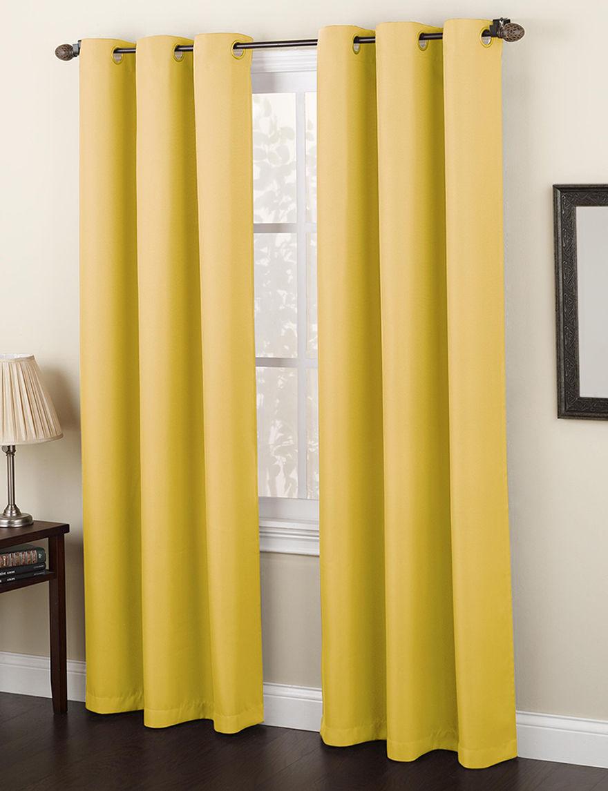 Lichtenberg Yellow Curtains & Drapes Window Treatments