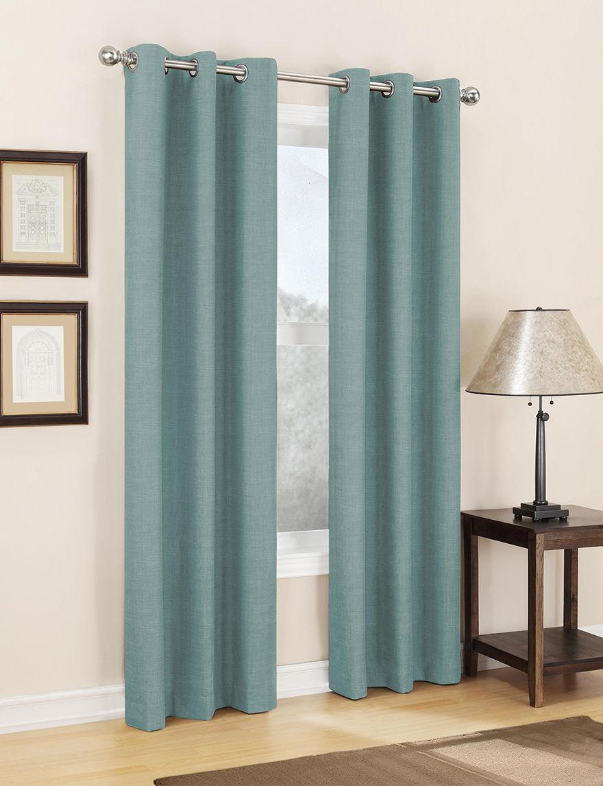Lichtenberg Teal Curtains & Drapes Window Treatments