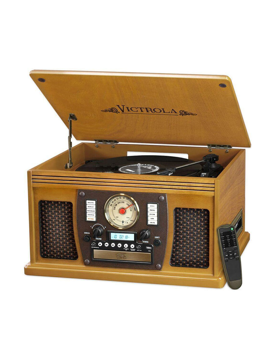 Victrola Oak CD Players & Boomboxes