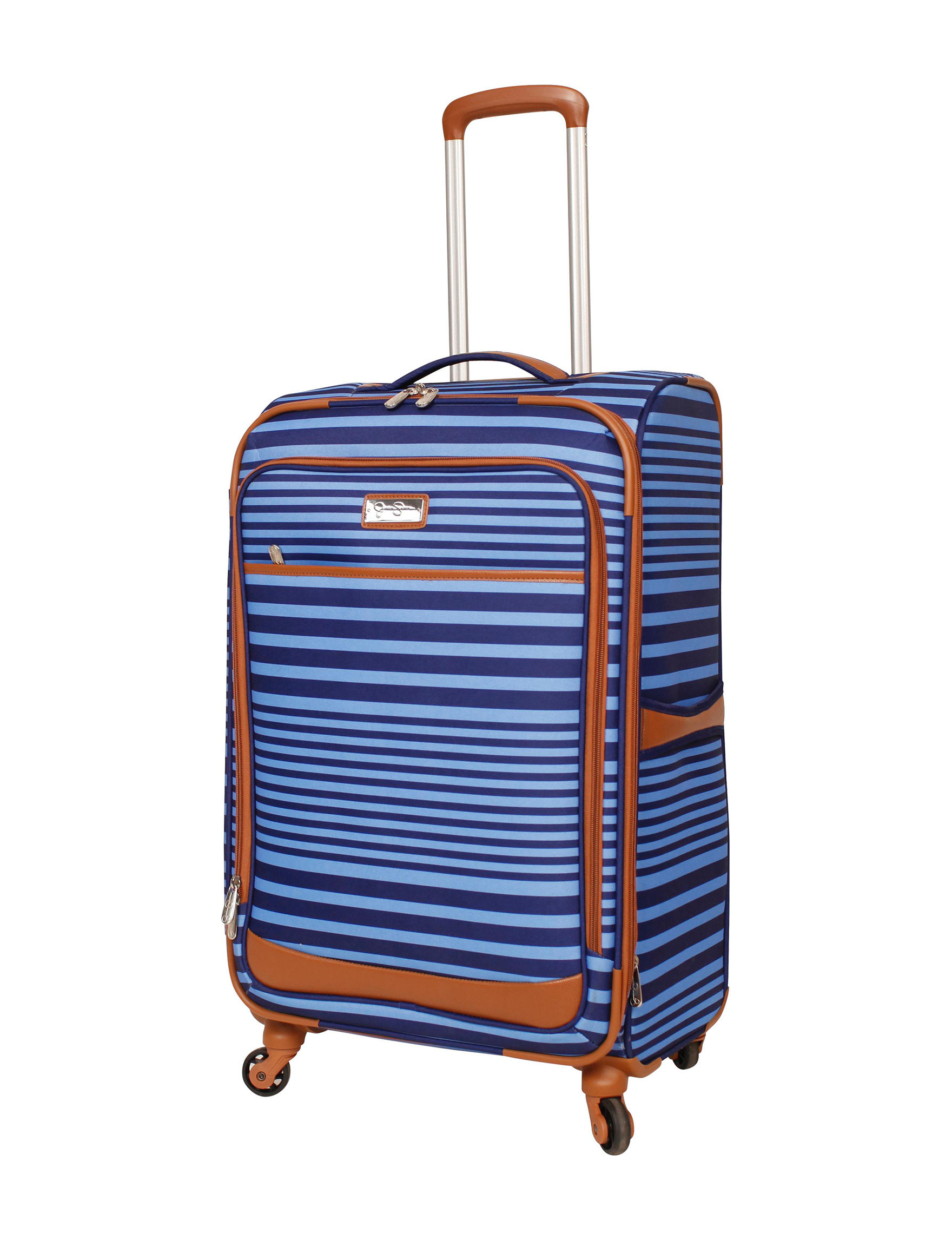 Jessica Simpson Blue Upright Spinners