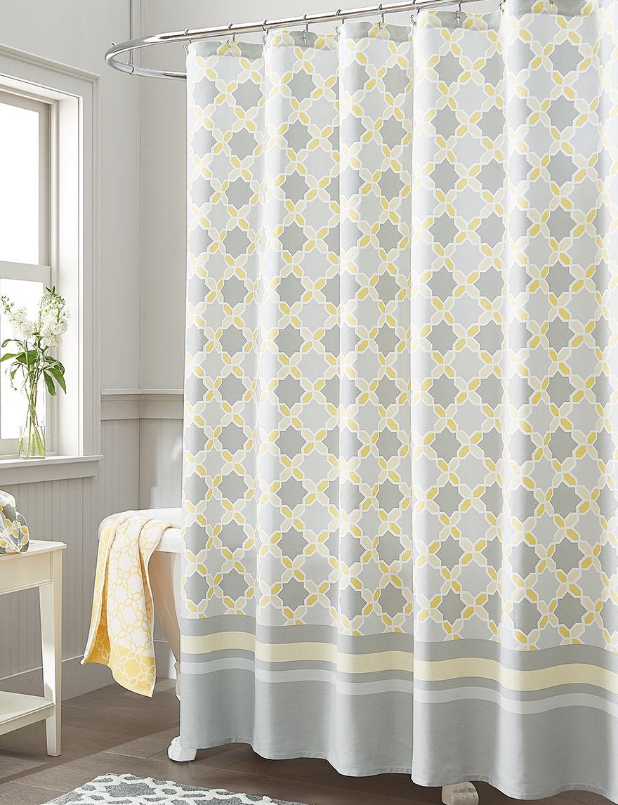style lounge shower curtain. Style Lounge Yellow  Grey Shower Curtains Hooks Elaina Diamond Curtain Stage Stores