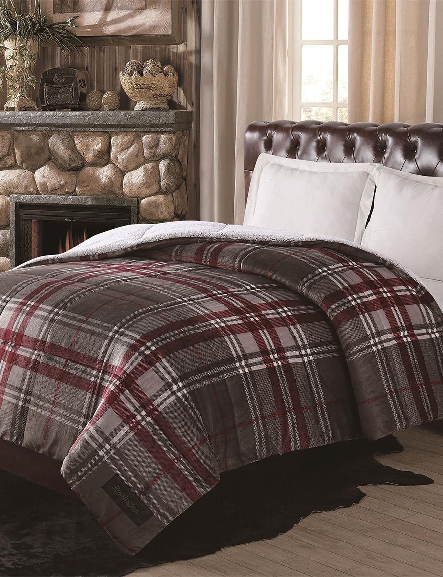 Remington Red Plaid Comforters & Comforter Sets