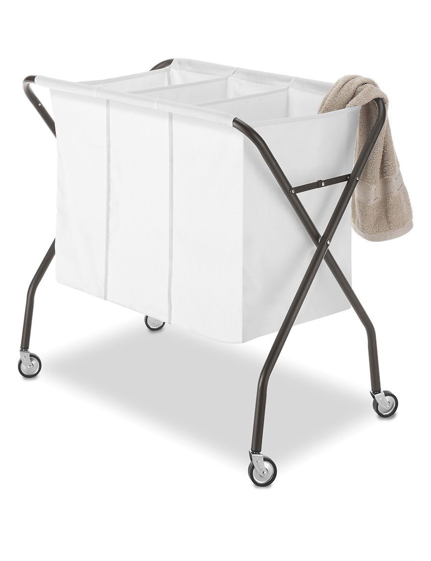 Whitmor White Laundry Hampers Irons & Clothing Care