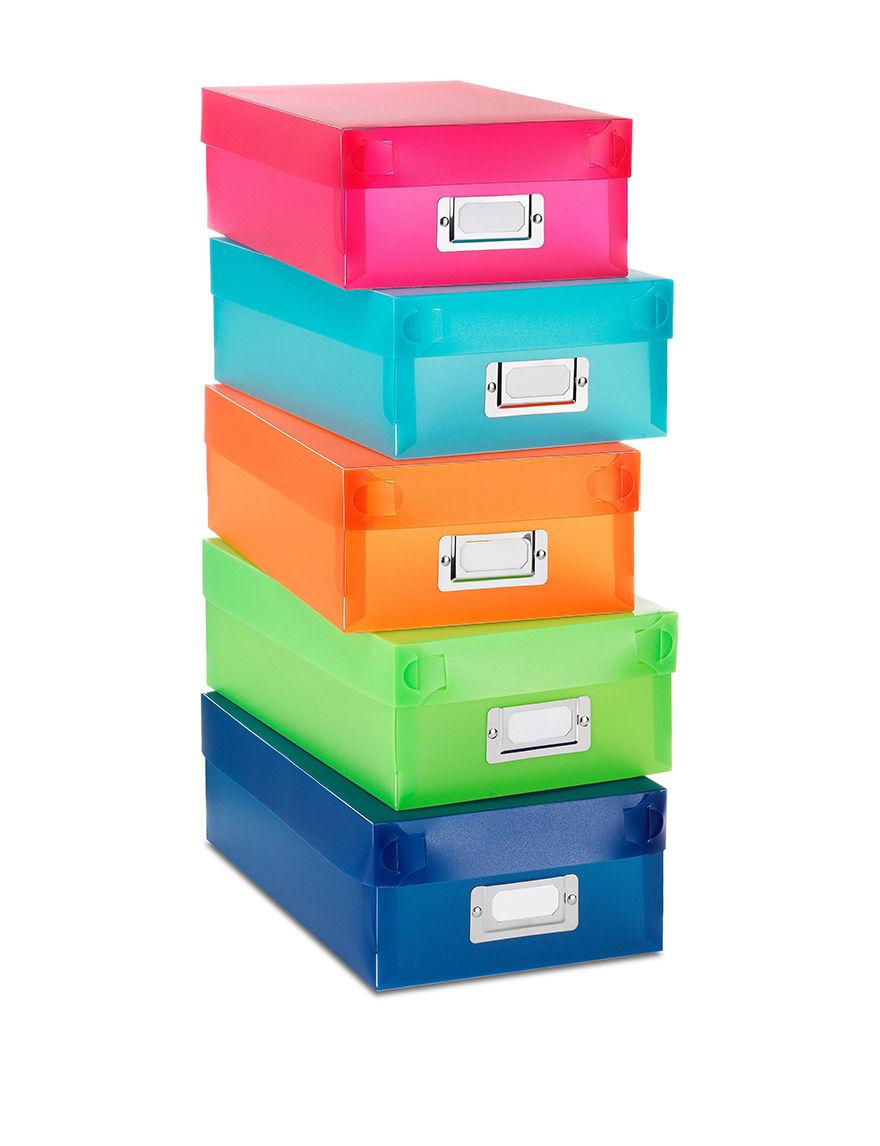 Whitmor Document Boxes Set Of 5 Whitmor Set Of 5 Organizer Boxes Stage Stores