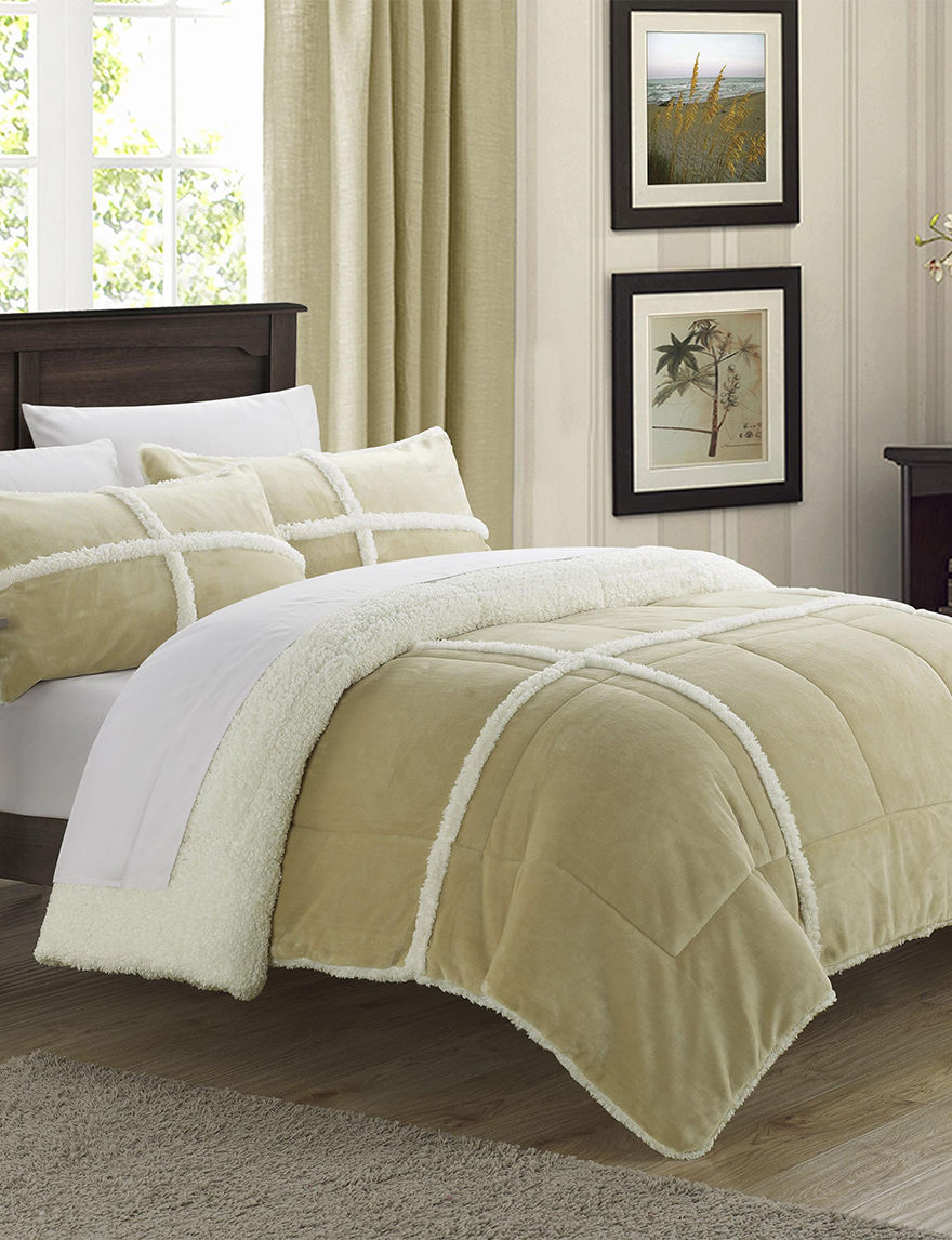 Chic Home Design Chiron Mink 3-pc. Taupe Comforter Set