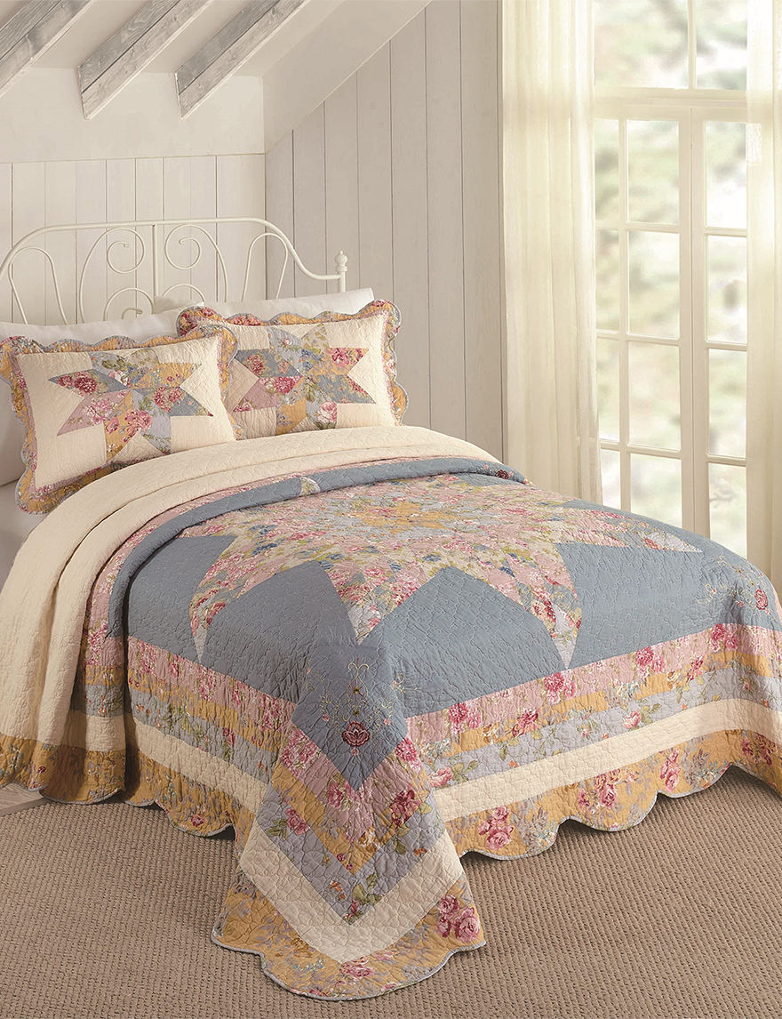 Modern Heirloom Blue Quilts & Quilt Sets