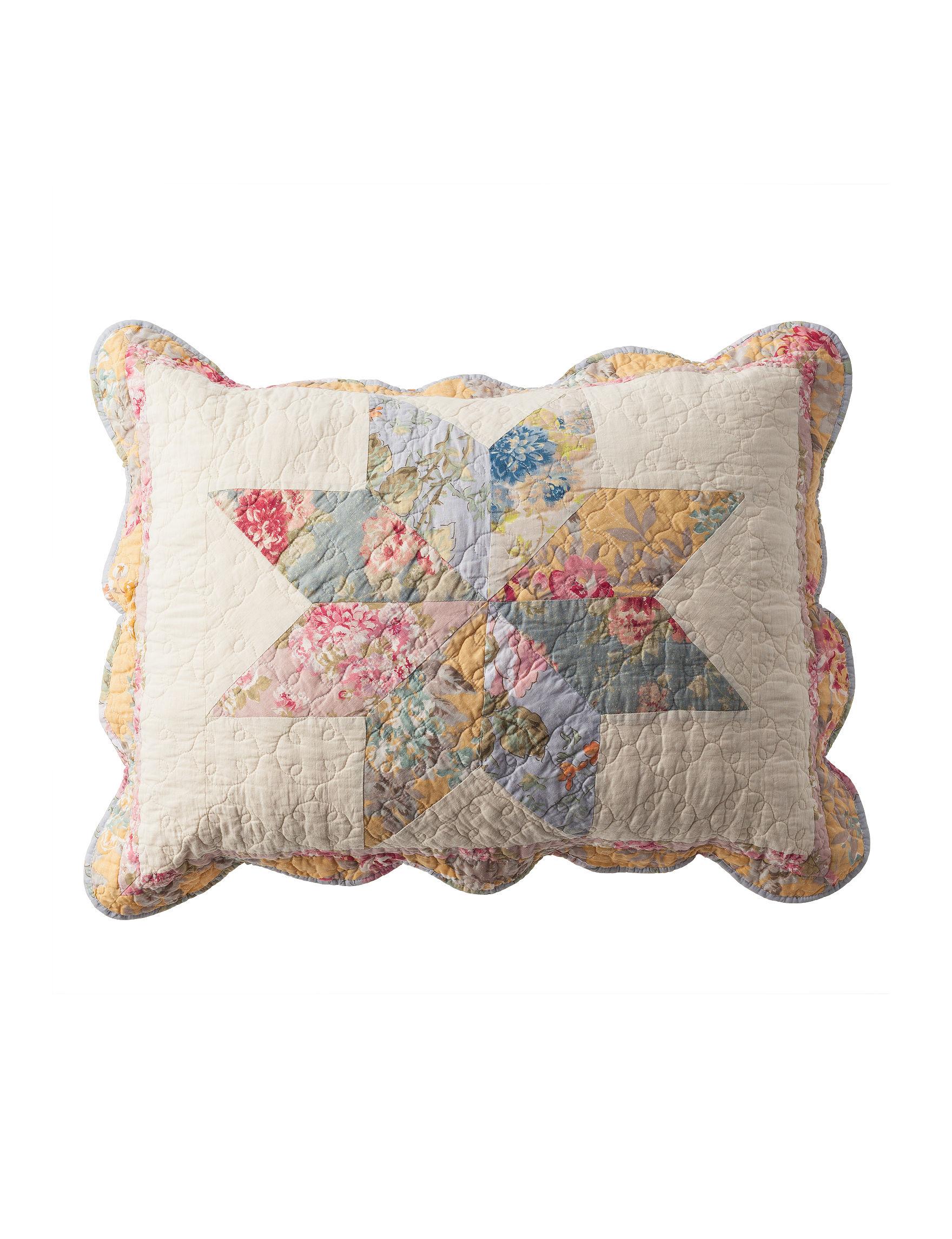 Modern Heirloom Blue Pillow Shams