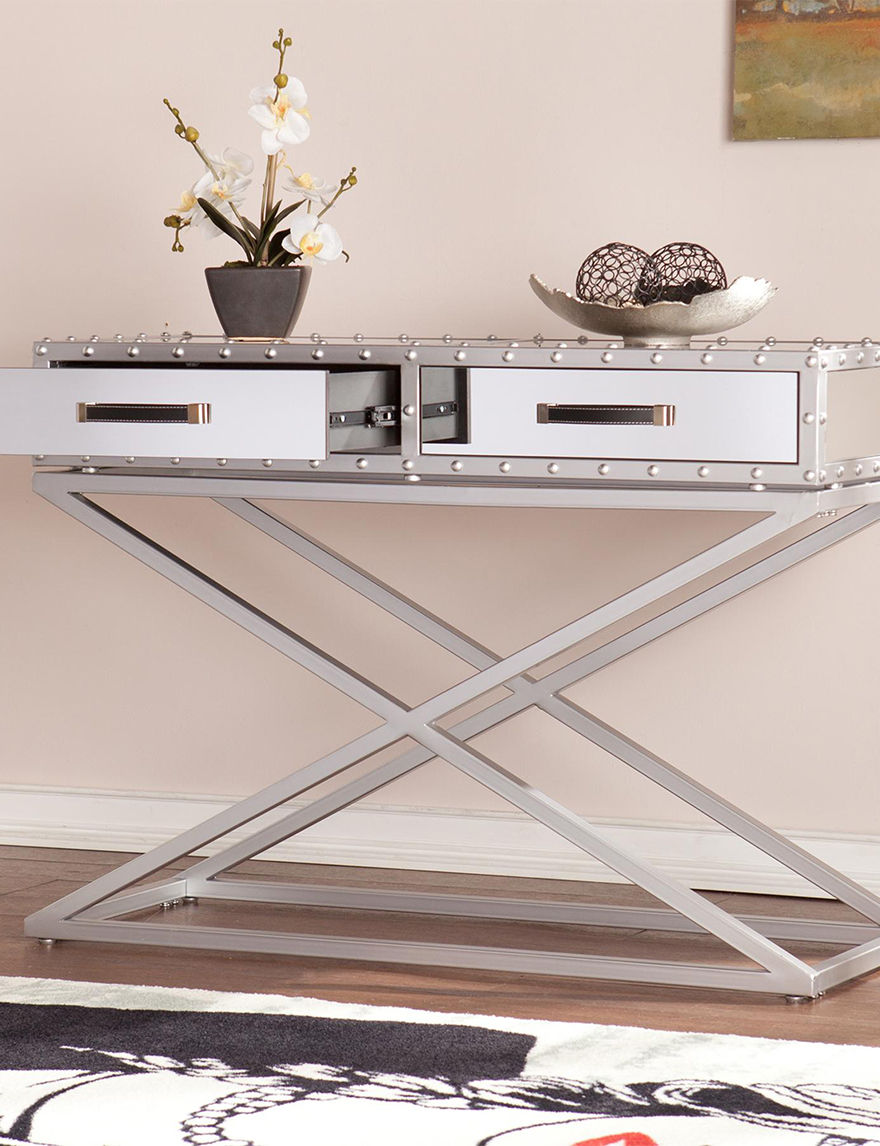 Southern Enterprises Silver TV Stands & Entertainment Centers Living Room Furniture