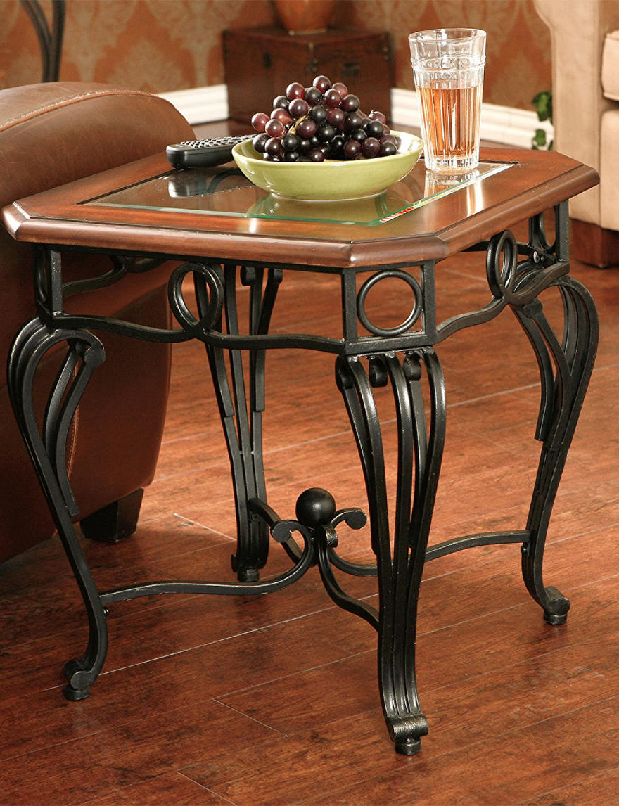 Southern Enterprises Cherry Accent & End Tables Living Room Furniture