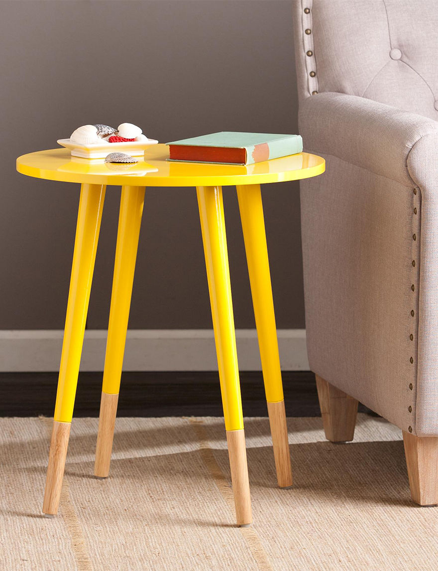 Southern Enterprises Yellow Accent & End Tables Living Room Furniture