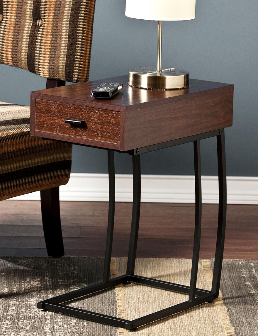 Southern Enterprises Walnut Accent & End Tables Living Room Furniture