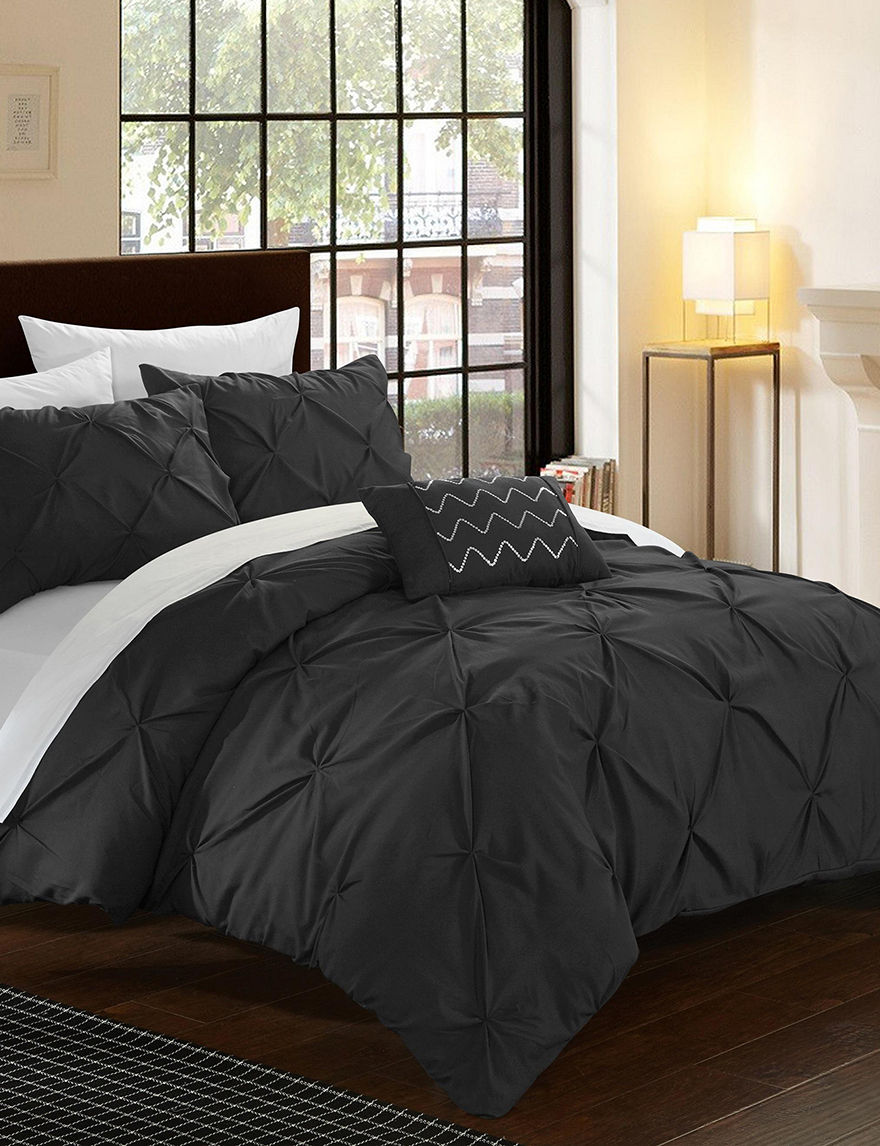Chic Home Design Black Duvets & Duvet Sets