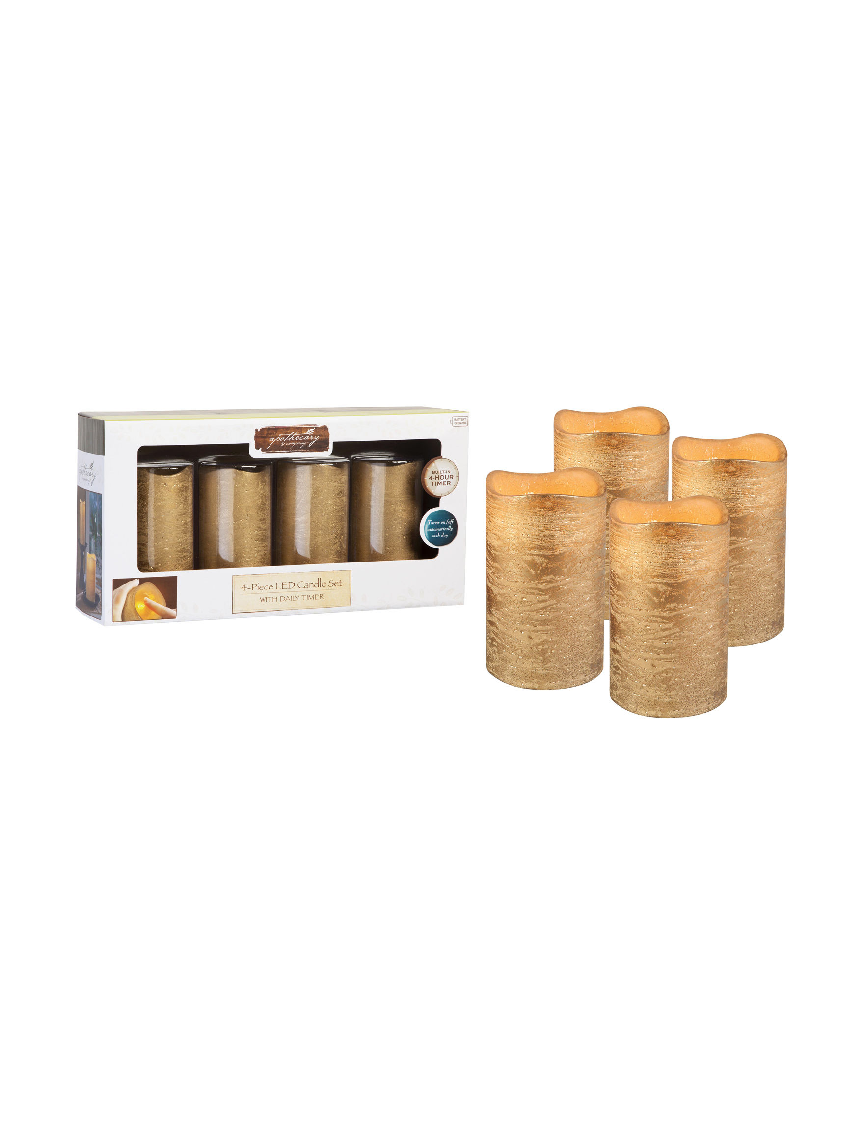 Apothecary Gold Candles & Diffusers Home Accents