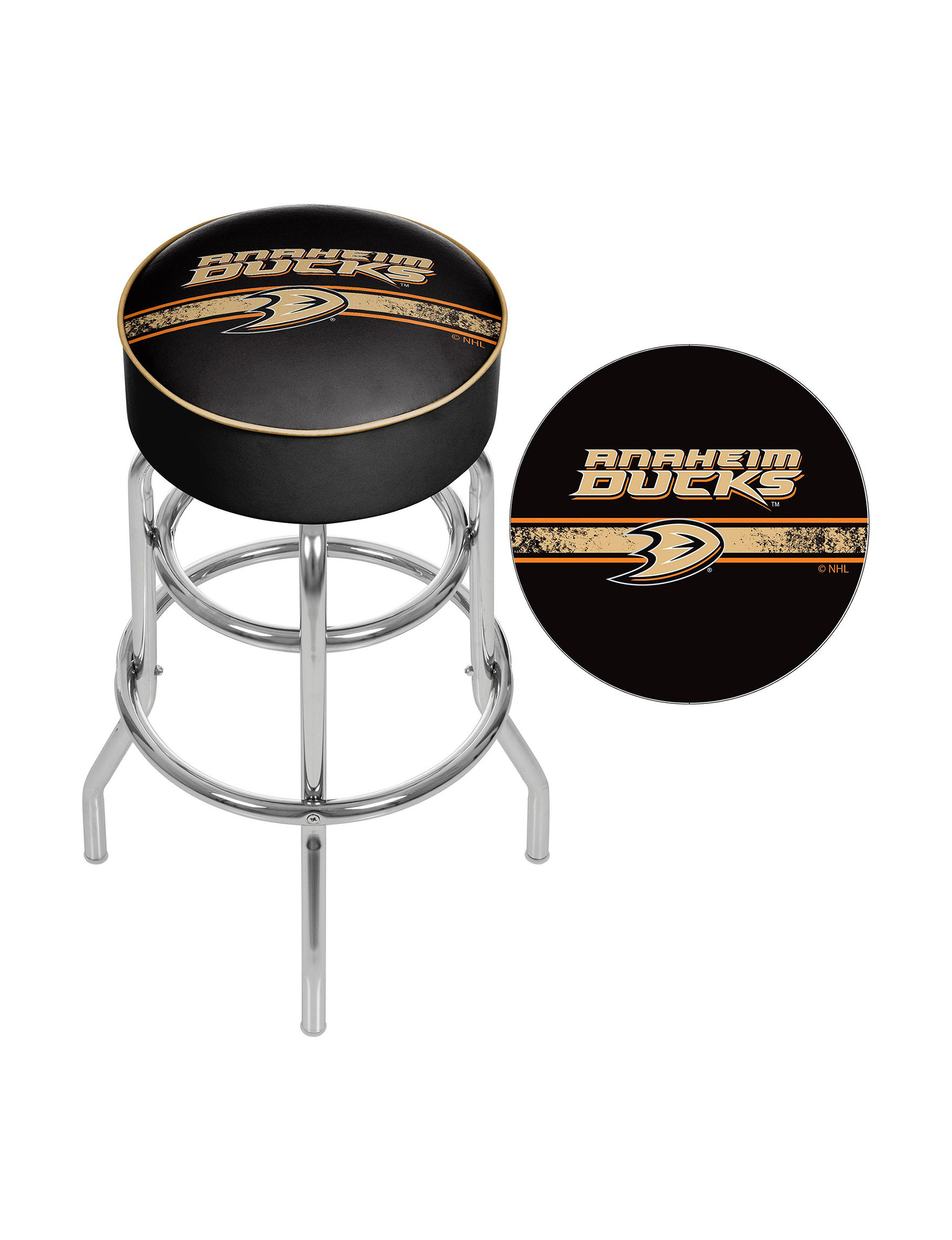 Nhl Aneheim Mighty Ducks Swivel Bar Stool Stage Stores
