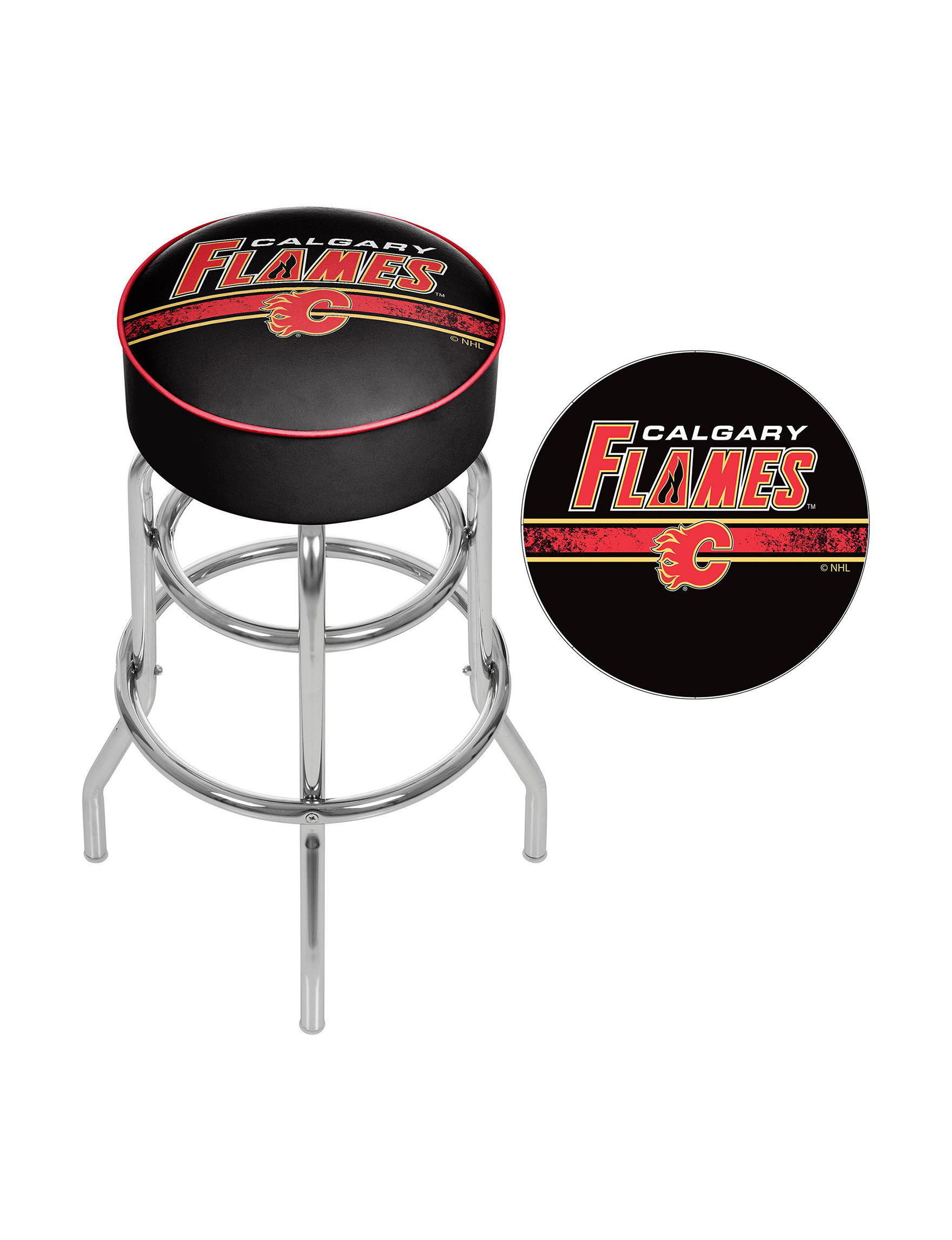 Nhl Calgary Flames Swivel Bar Stool Stage Stores