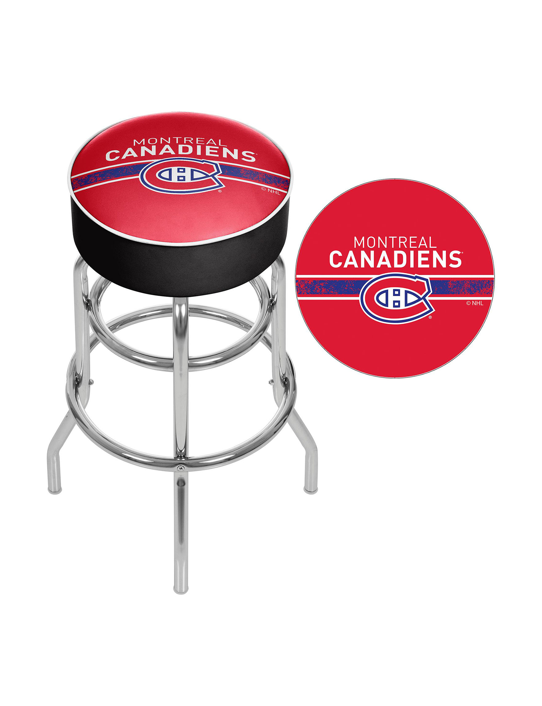 Nhl Montreal Canadiens Swivel Bar Stool Stage Stores