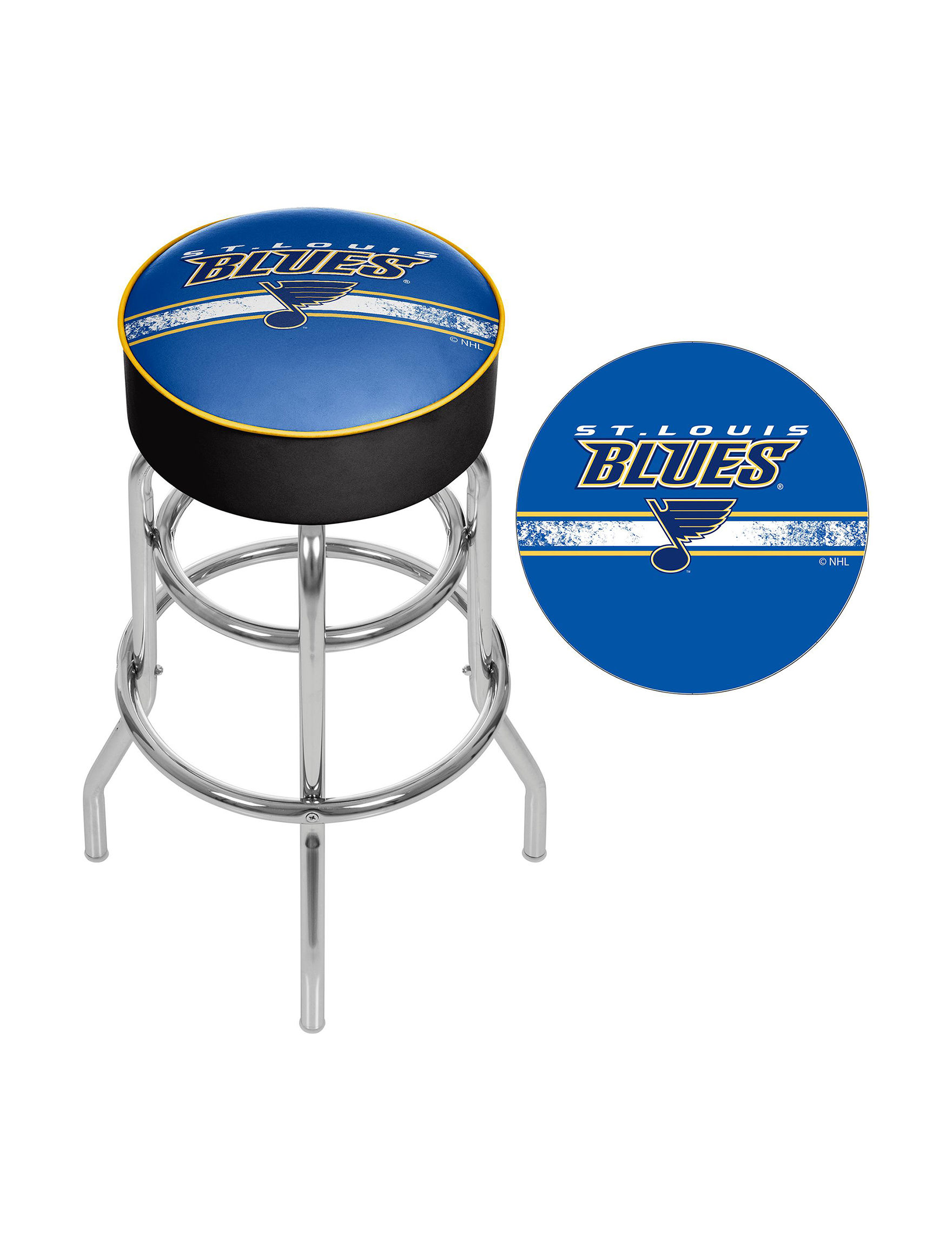 Nhl St Louis Blues Swivel Bar Stool Stage Stores