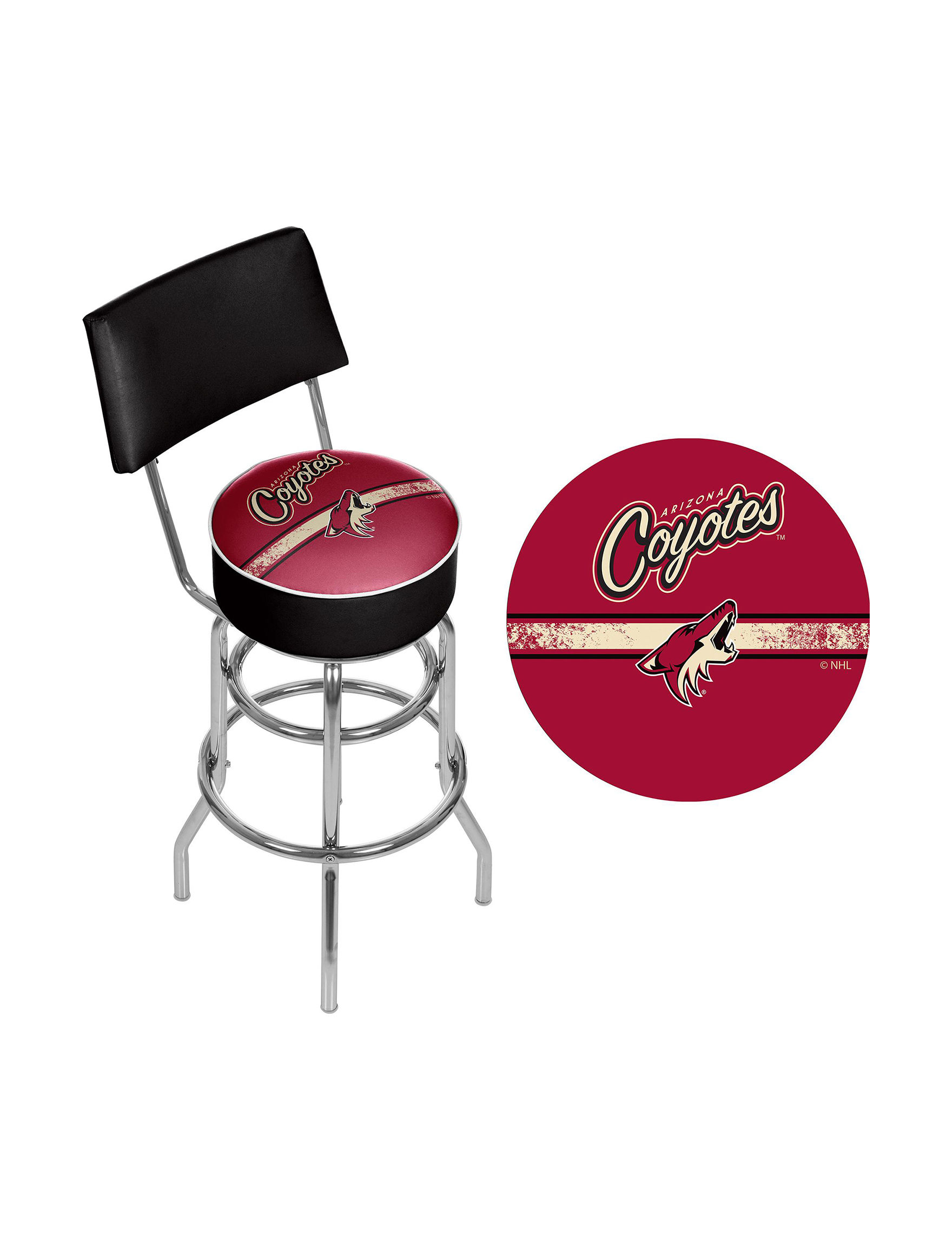 NHL Red Bar & Kitchen Stools Kitchen & Dining Furniture