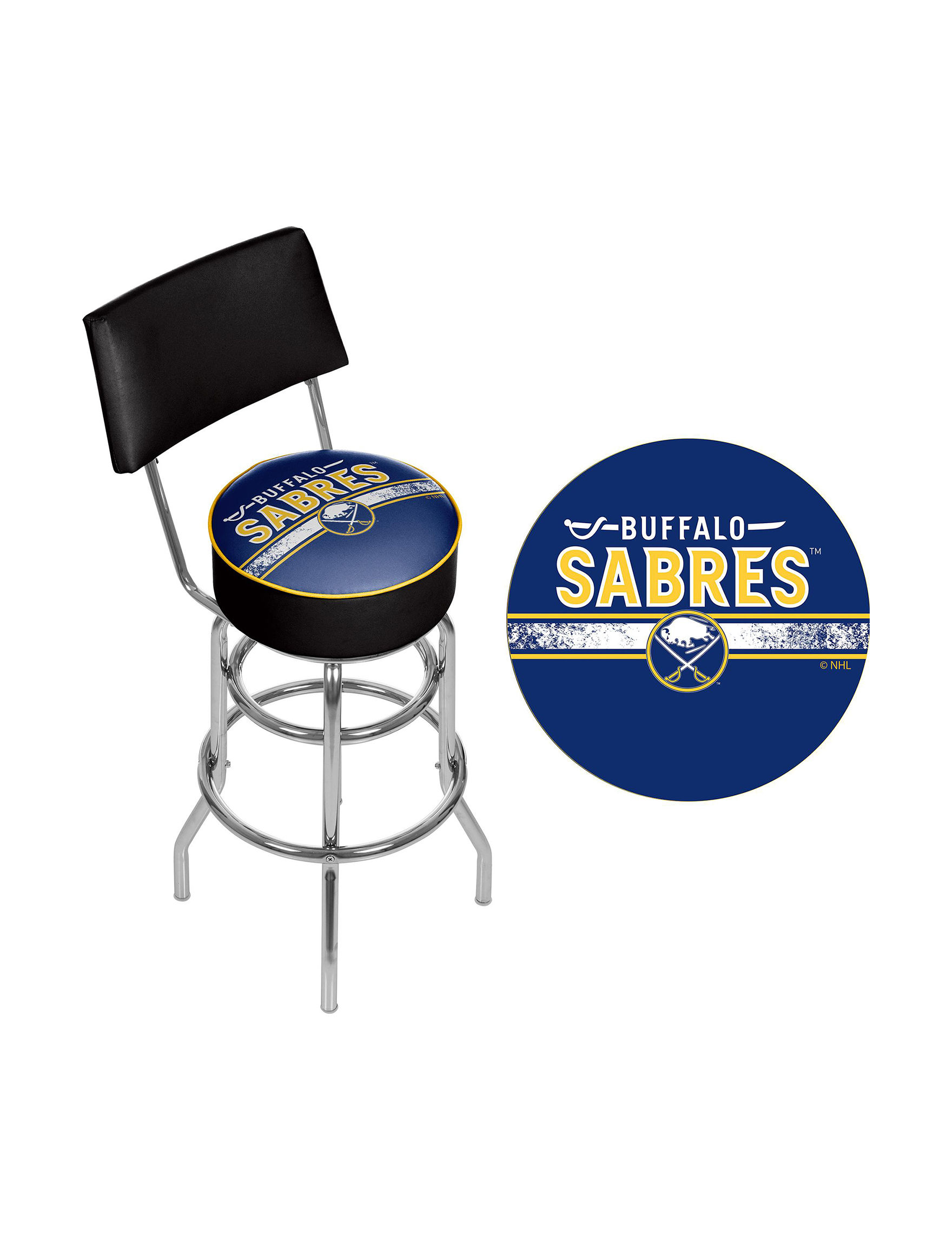 Nhl Buffalo Sabres Swivel Bar Stool With Back Stage Stores
