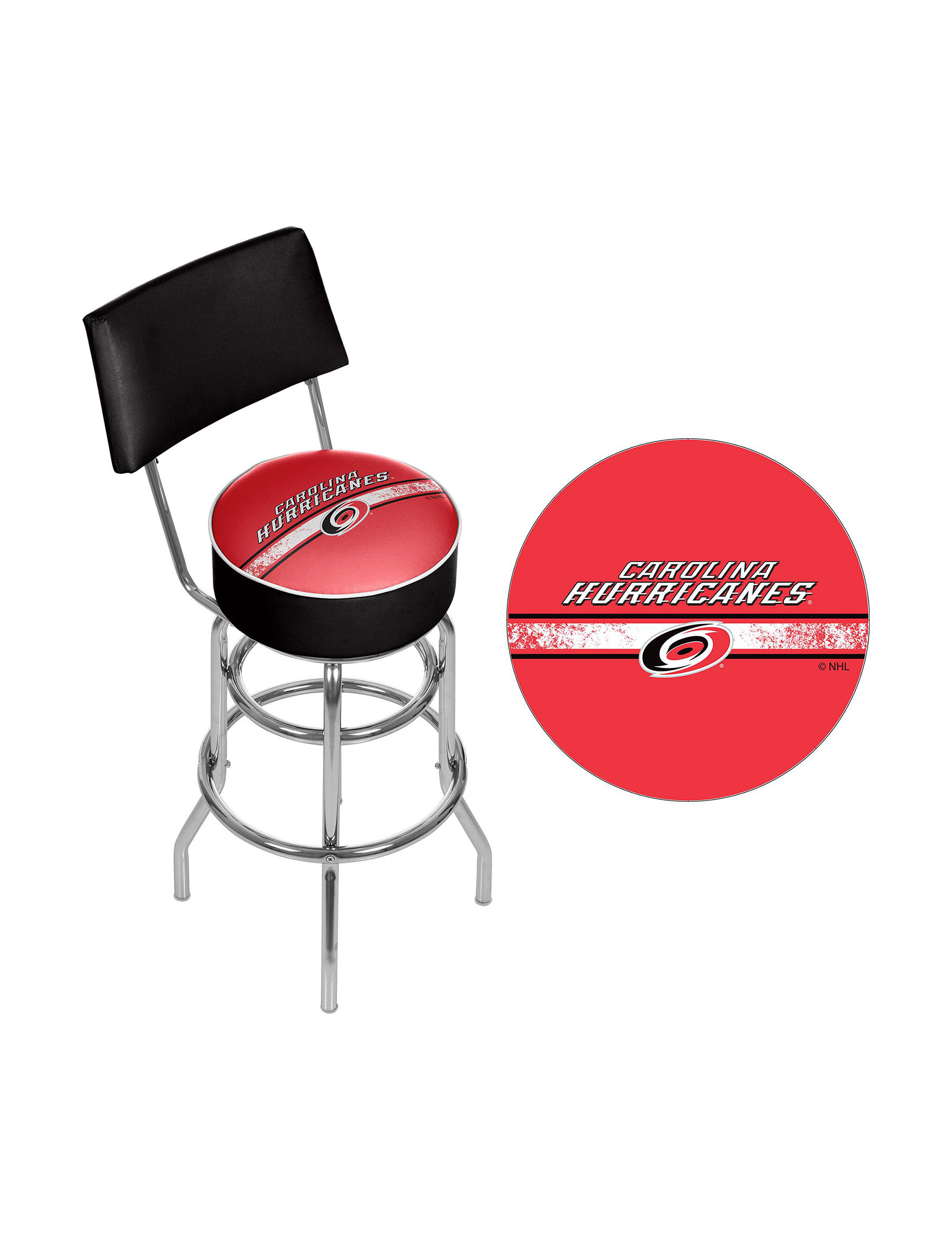 Nhl Carolina Hurricanes Swivel Bar Stool With Back Stage