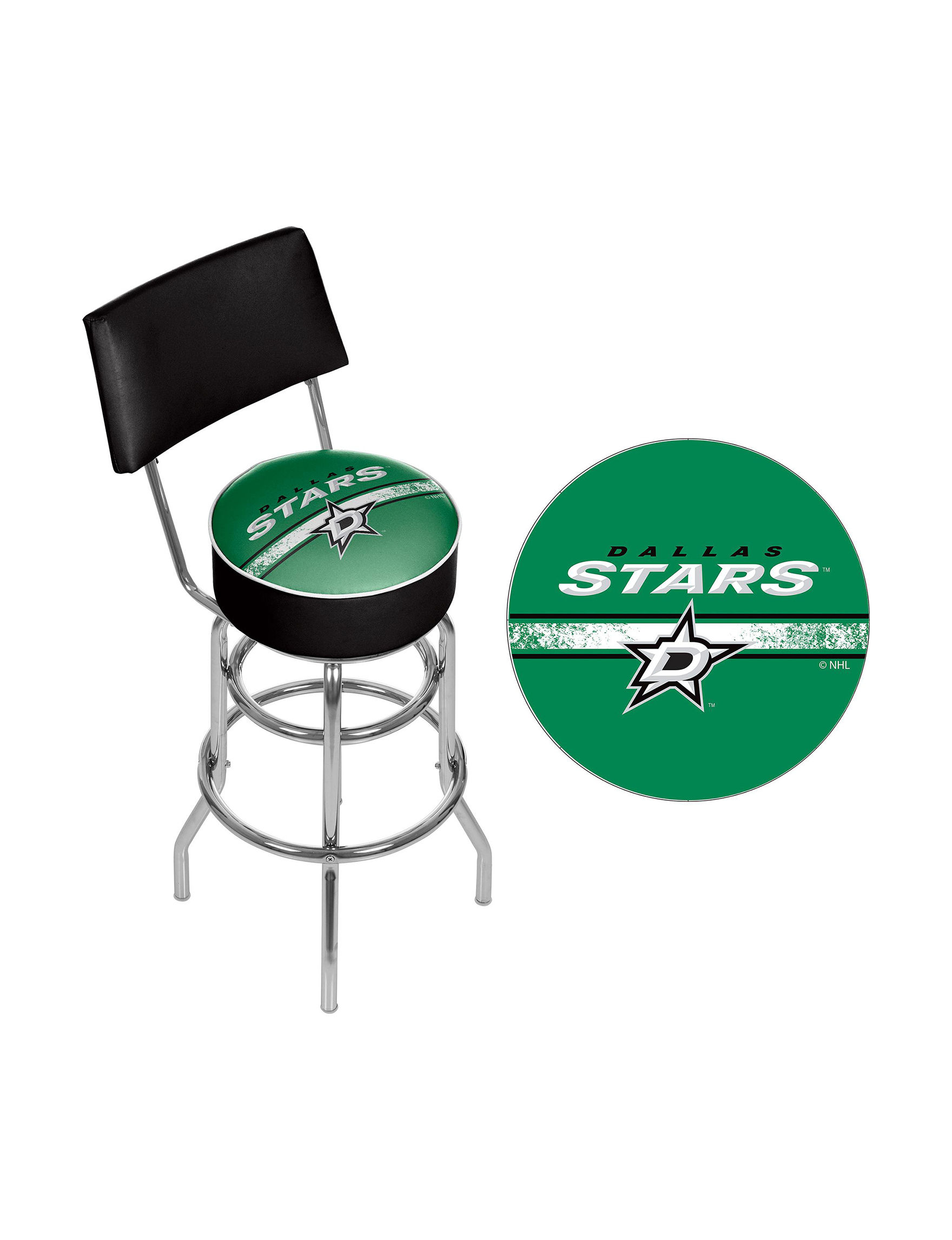 Nhl Dallas Stars Swivel Bar Stool With Back Stage Stores