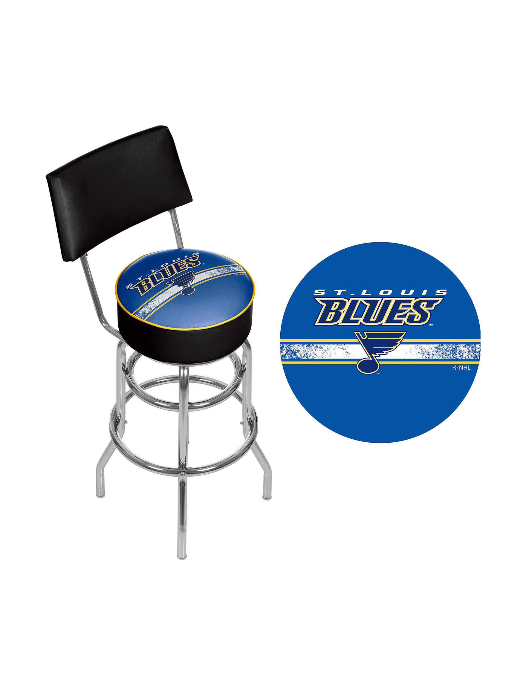 Nhl St Louis Blues Swivel Bar Stool With Back Stage Stores