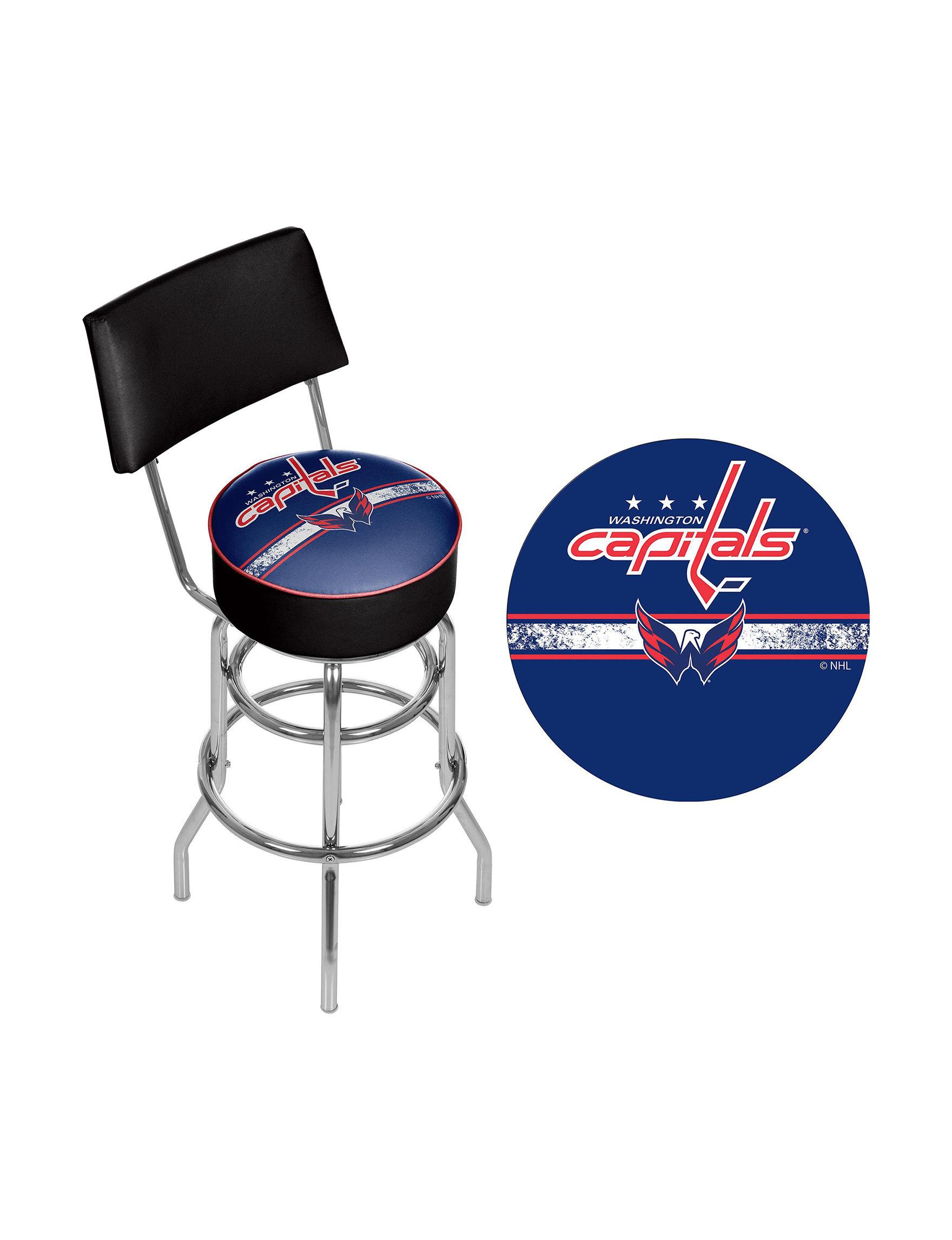 NHL Red Bar & Kitchen Stools Kitchen & Dining Furniture