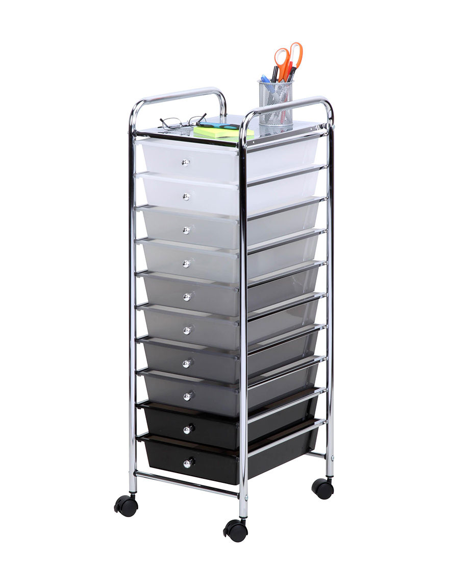 Honey-Can-Do International Grey Carts & Drawers Garment & Drying Racks Storage & Organization