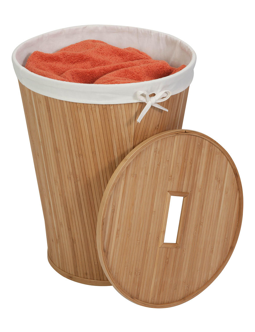 Honey-Can-Do International Beige Laundry Hampers Storage & Organization