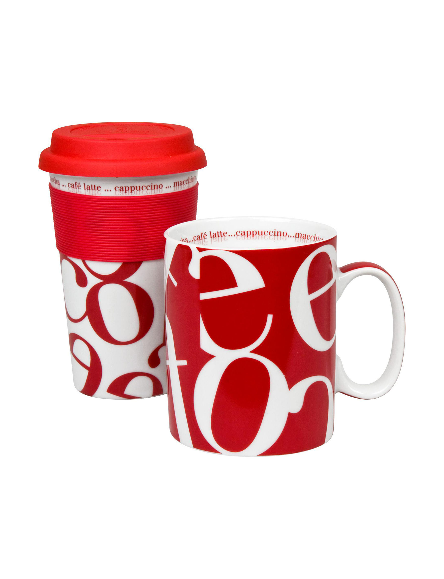 Konitz Red Mugs Drinkware